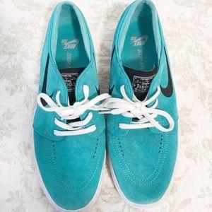 Nike Stefan janoski skateboarding suede teal shoe
